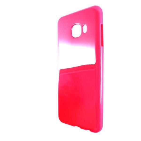 Чехол глянец Ртутный Samsung C5 (red)