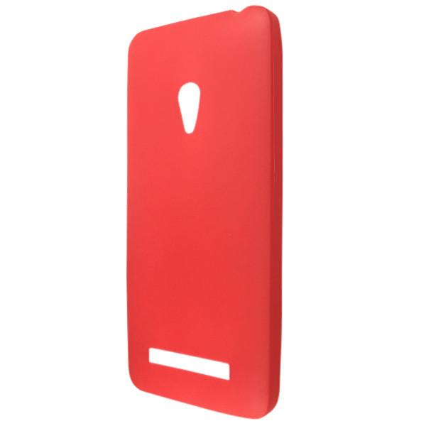 Чехол  ultra slim matting TPU for ASUS Zen Fone 5 A500CA red