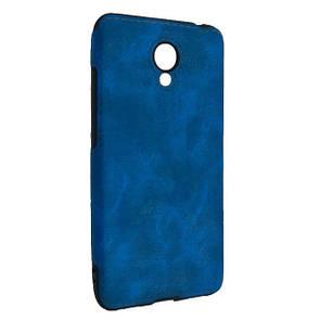 Чехол-накладка DK-Case силикон кожа Sitched для Meizu M5C (blue)