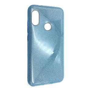 Чехол Silicone Glitter Heaven Rain Xiaomi Redmi Note 6 Pro (blue)