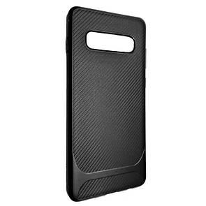 Чехол Silicone SGP Carbon Samsung S10 (black)