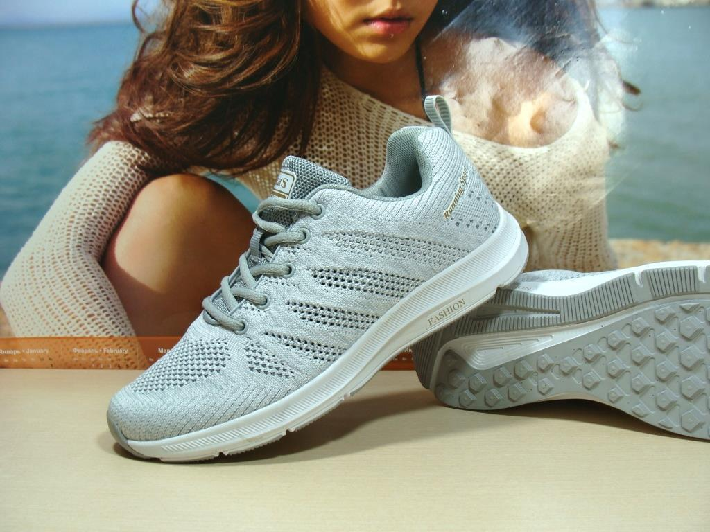 Мужские кроссовки BaaS Running светло-серые 45 р., фото 1