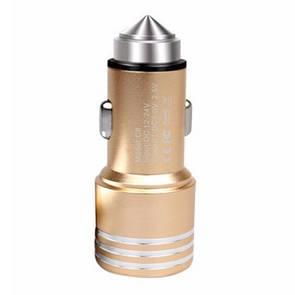 Авто ЗУ DK-Case Bullet 1/2,1A  gold
