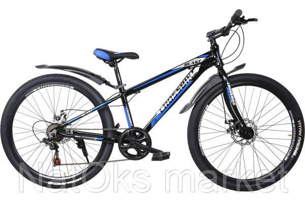 "Велосипед Cross Blast 26"" (black-sivery-blue)"