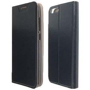 Чехол -книжка кожа с силиконом Smart Xiaomi Mi 6 (black)