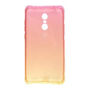 Чехол Бамбук градиент Xiaomi Redmi Note 4 (yellow/pink)