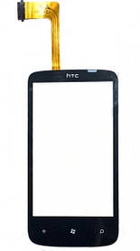 Тачскрин (сенсор) HTC 7 Mozart T8698, T8690, black (чёрный)