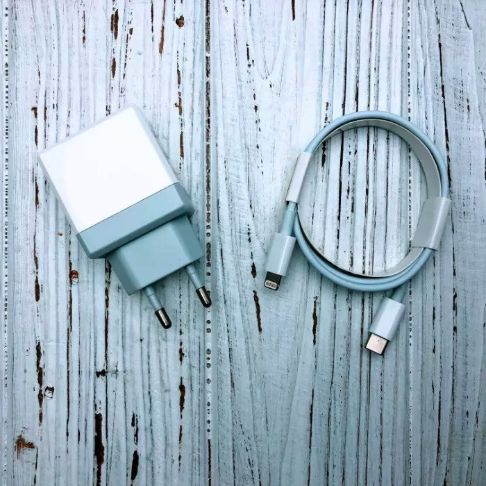 Зарядное устройство Fast Charge 18W Type-C to lightning cable for Apple (white)