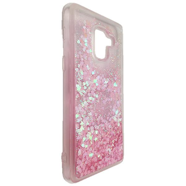 Чехол Аквариум Сердечки Samsung A8 (light pink)