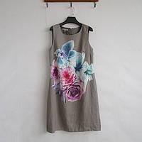 Платье льняное с цветочным принтом Layra Ashley р-р 46, 48