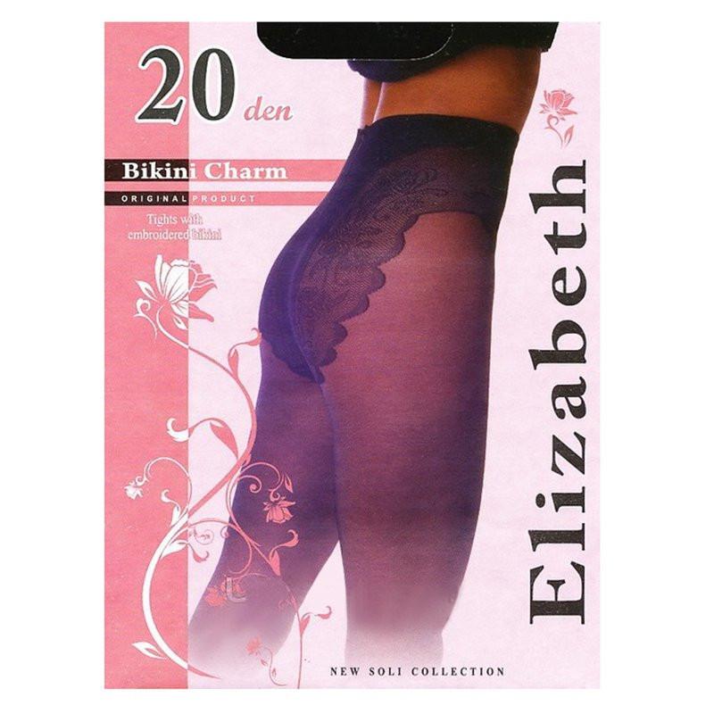Тонкие, придающие шарм, матовые колготки Elizabeth с кружевными бикини и комфортным поясом  20 den 00119-1