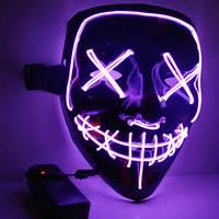 Неоновая Маска Судная Ночь Led Mask Светящаяся Маска, фото 1