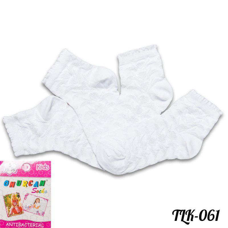 Носки детские антибактериальные для девочек Onurcan TLK-061 | 12 шт.