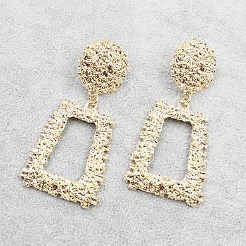 "Серьги (шандельеры) ""Chianea Gold"" L-7 см"