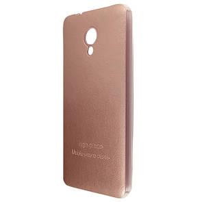 Чехол-накладка DK-Case силикон кожаная наклейка для Meizu M5 Note (rose gold)