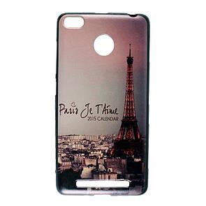 Чехол-накладка DK-Case силикон Paris Print for Xiaomi Redmi 3 Pro (night)