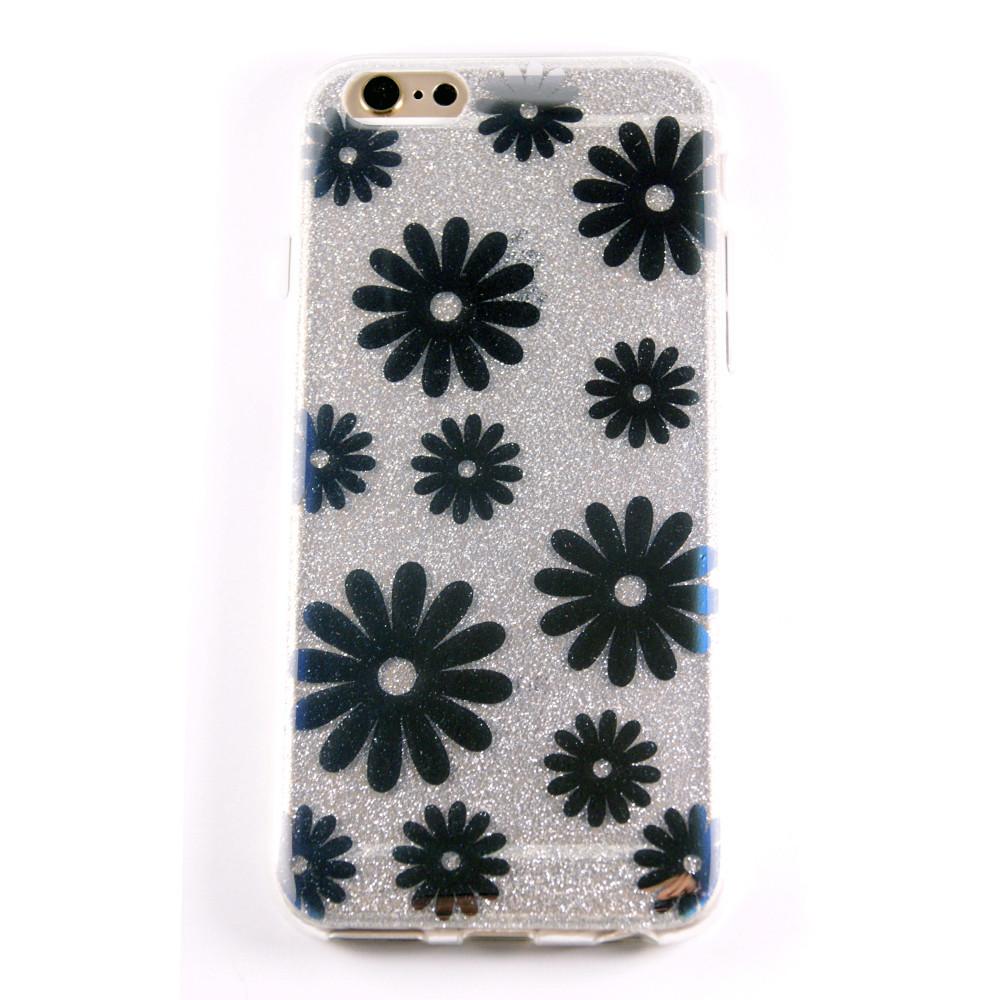 Чехол  Magic Flowers Ромашка for Apple iPhone 6/6S (silver)