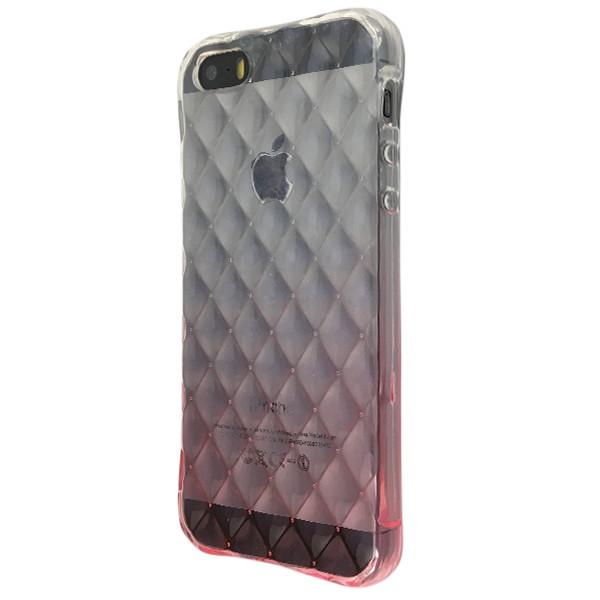 Чехол градиент Диван Жизель Apple iPhone 5/5S (pink/clear)