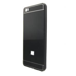 Чехол -бампер металл с крышкой глянец Xiaomi Mi Note/Mi Note Pro (black)