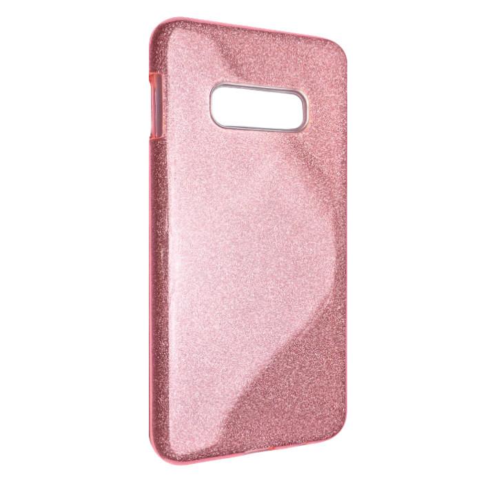 Чехол Silicone Glitter Heaven Rain Samsung S10e (light pink)