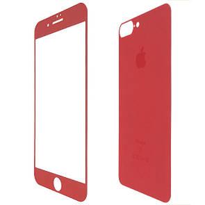 Защитное стекло  for Apple iPhone 7 Plus matt back/face red