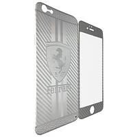 Защитное стекло DK-Case  Ferrari Carbon for Apple iPhone 6/6S silver