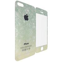 Защитное стекло DK-Case для Apple iPhone 5/5S жемчужный ручей back/face (light yellow/green)