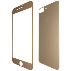 Защитное стекло  for Apple iPhone 7 Plus matt back/face gold