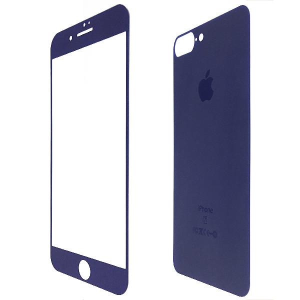 Защитное стекло for Apple iPhone 7 Plus matt back/face dark blue