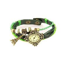 Яркие зеленые часы женские nn1991green