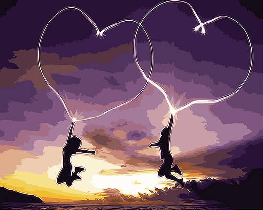 """Картина по номерам """"Пылающие сердца"""" Rainbow Art, фото 2"""