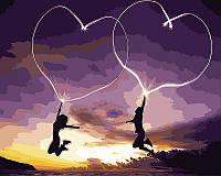 "Картина по номерам ""Пылающие сердца"" Rainbow Art"
