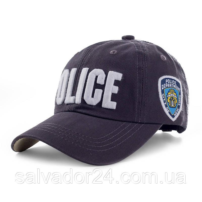 Бейсболка POLICE серая, кепка блайзер