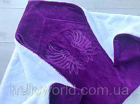 Одеяло-плед, крыжма фиолет