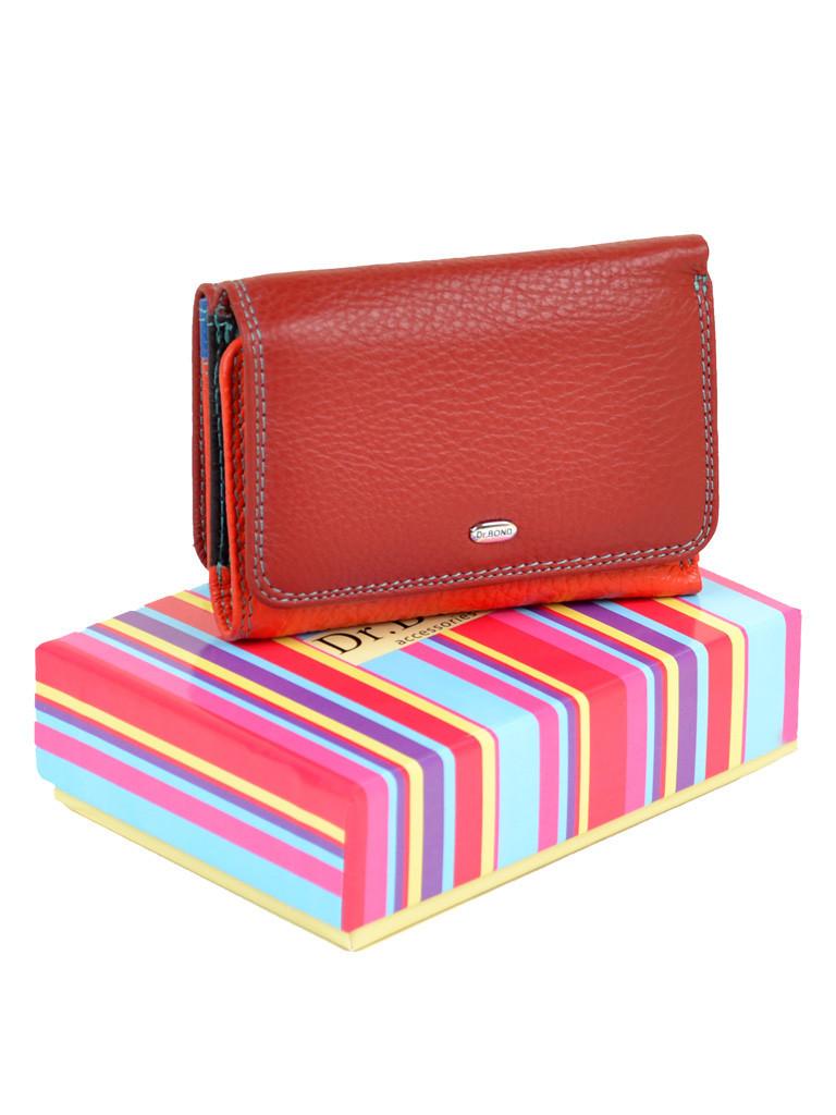 aebfe53721bd Яркий женский кожаный кошелек Rainbow DR. BOND WRS-4 - Интернет магазин