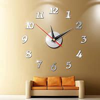 Часы настенные 3-d зеркальные арабские цифры