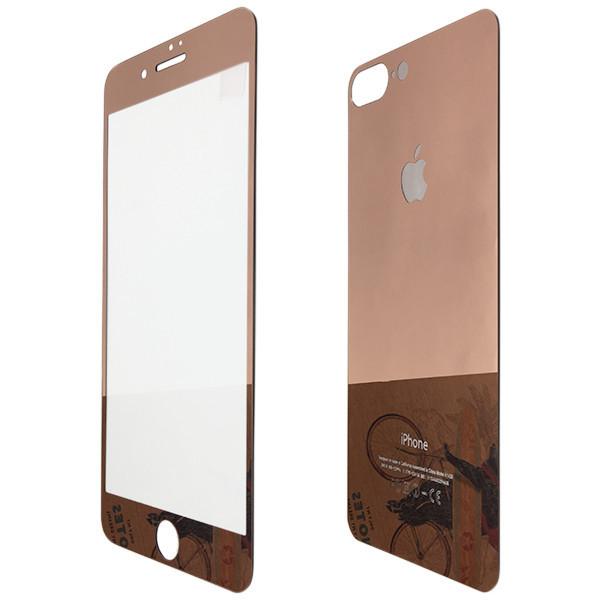 Защитное стекло  for Apple iPhone 7 Plus зеркало back/face rose gold