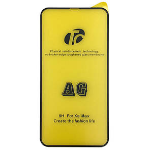 Защитное стекло Matt AG Full Glue Apple iPhone XS Max (black)