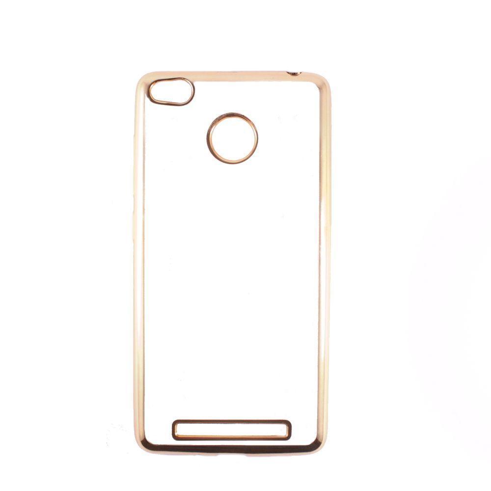 Чехол-накладка DK-Case силикон с хром бортом для Xiaomi Redmi 3 Pro/3S (gold)