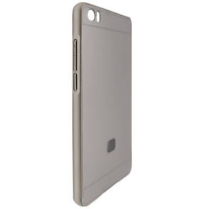 Чехол -бампер металл с крышкой глянец Xiaomi Mi Note/Mi Note Pro (silver)
