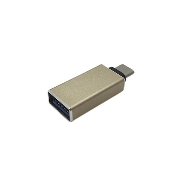 Переходник metal compact type-c USB 3.0 gold