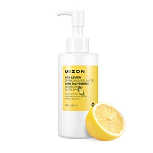 Mizon Vita Lemon Sparkling Peeling Gel Очищающая пилинг-скатка для лица