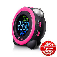 Электронный будильник розовый GOTIE GBE-300R