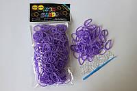 600 штук фиолетовых резиночек для плетения Loom Bands