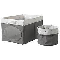 NOJSAM IKEA Коробка и корзина, серый, 25x37x22 см Нойсэм