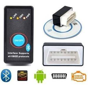 Сканер-адаптер для диагностики автомобиля с кнопкой ВЫКЛ ELM327 v2.1 Bluetooth OBD 2