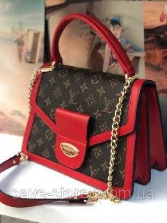 c9a0ef168c36 Женская сумка клатч Louis Vuitton LV ( Луи Виттон), женская сумочка, модная  сумка, красная