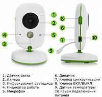 Видеоняня Радионяня Baby Monitor VB 602 с термометром, фото 4