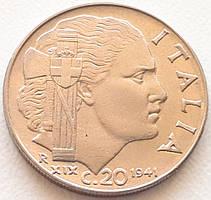 Италия 20 чентезимо 1941