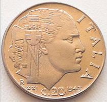 Италия 20 чентезимо 1943
